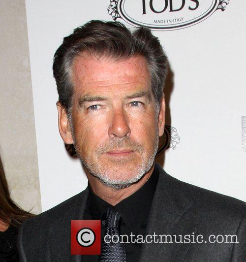 Pierce Brosnan Tod's Boutique grand opening in Beverly...