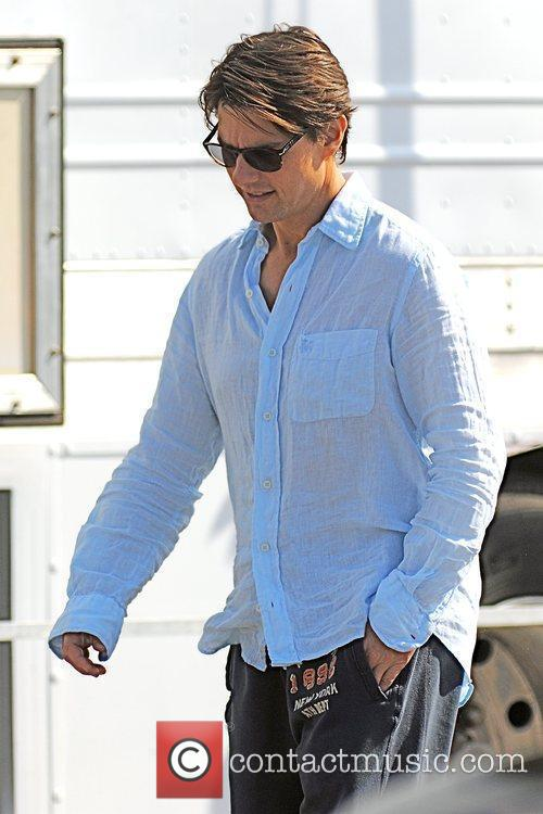 Tom Cruise on the set of his new...