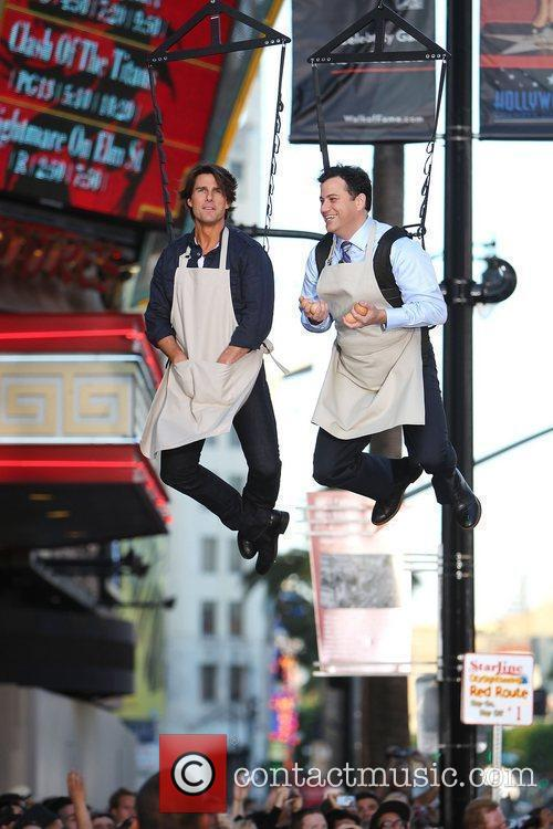 Tom Cruise and Jimmy Kimmel 8