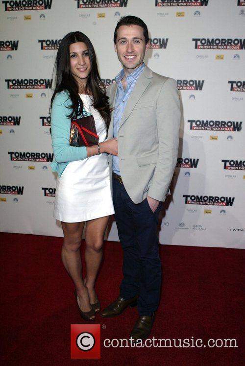 Tom Waterhouse and Hoda Vasili The premiere of...