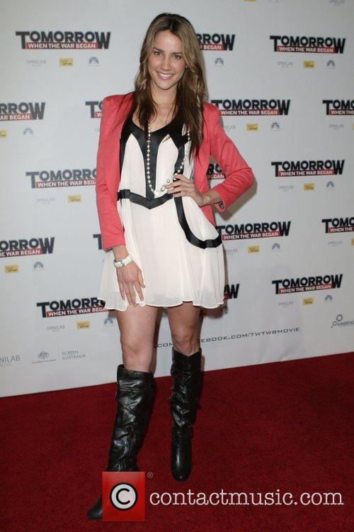 Rachael Finch The premiere of 'Tomorrow When The...