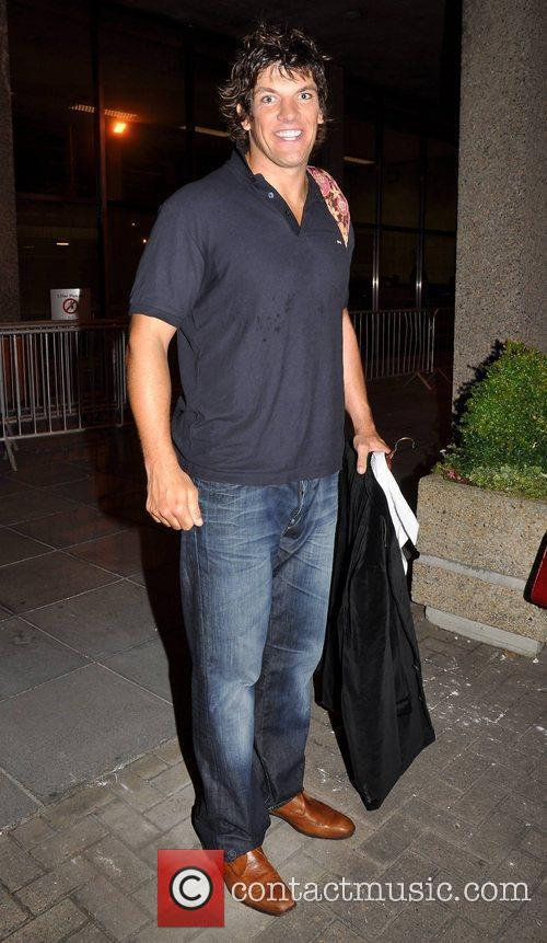 Donncha O'Callaghan outside the RTE studios after appearing...