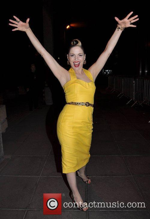 Imelda May outside the RTE studios after appearing...