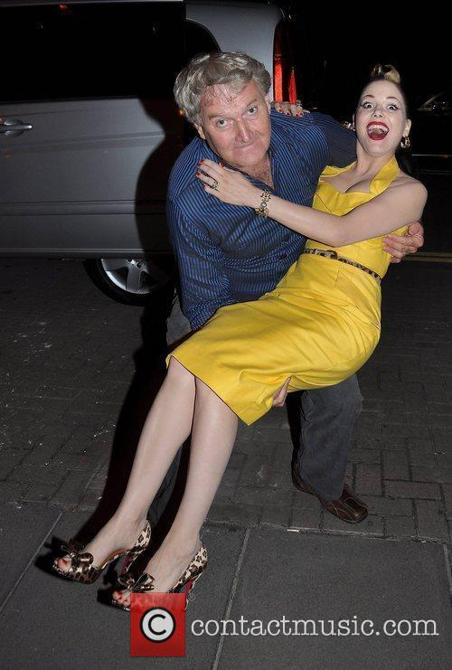Imelda May and Seamus Begley outside the RTE...