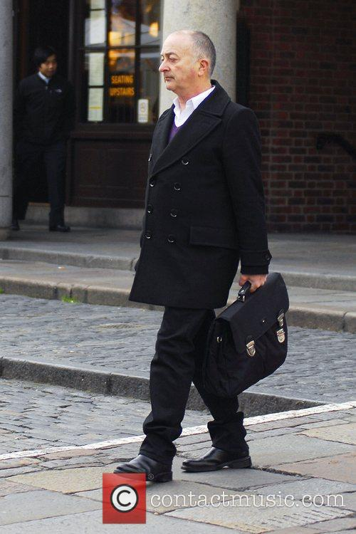 Tony Robinson seen in Covent Garden wearing a...