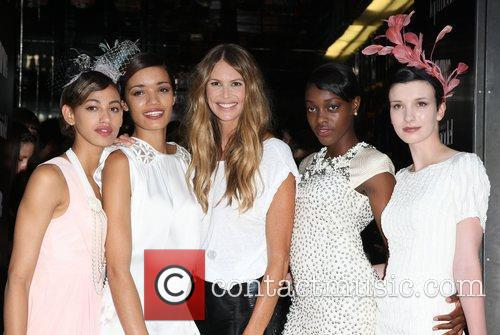 Elle MacPherson with the finalists Britain's Next Top...