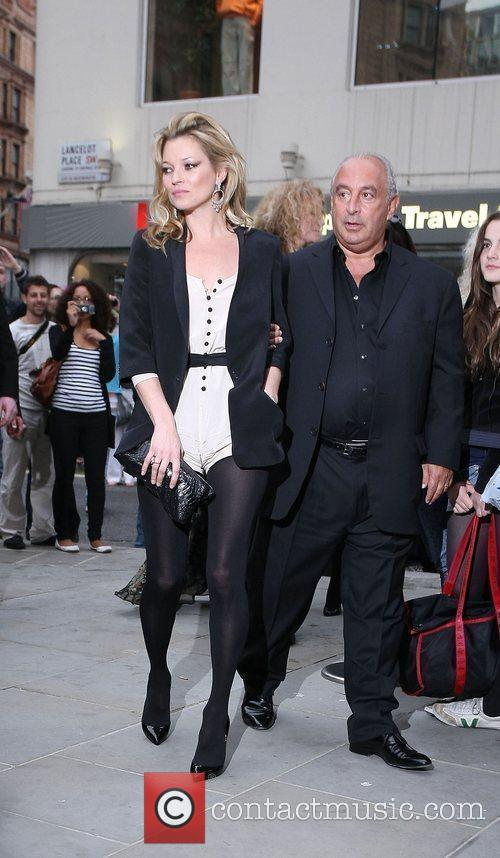 Kate Moss, Sir Philip Green Topshop opens in...