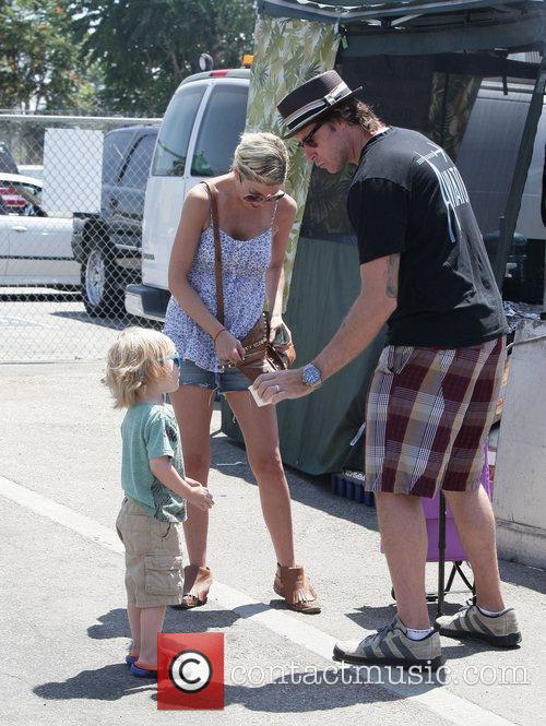 Tori Spelling and her son Liam Aaron McDermott...