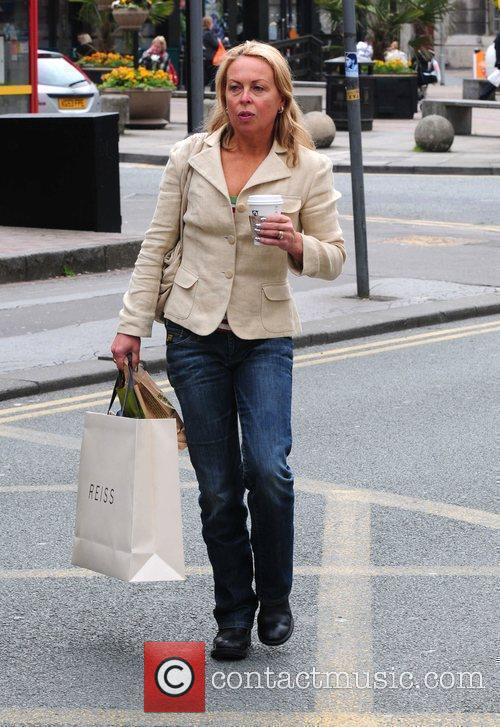 Jayne Torvill  out and about in Manchester...