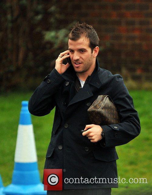 Footballers arriving at the Tottenham Hotspur training ground