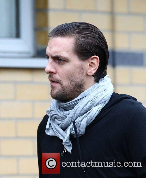 Jonathan Woodgate  leaving after training with Tottenham...
