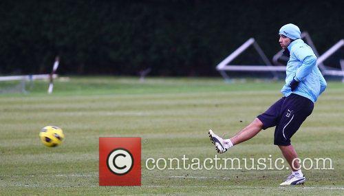 Vedran Corluca  training with Tottenham Hotspur...