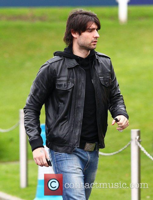 Vedran Corluca  leaving after training with Tottenham...