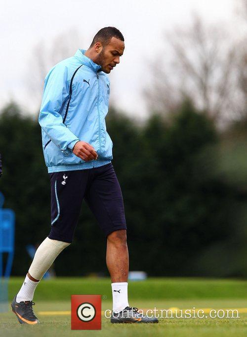 Younis Kaboul  training with Tottenham Hotspur...
