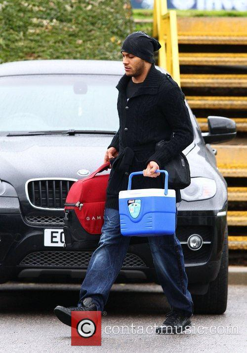 Younis Kaboul  leaving after training with Tottenham...
