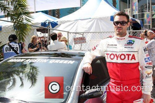 Brian Austin Green The Toyota Pro/Celebrity Race qualifying...