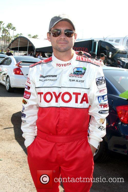 Christian Slater Pess practice day for the Toyota...