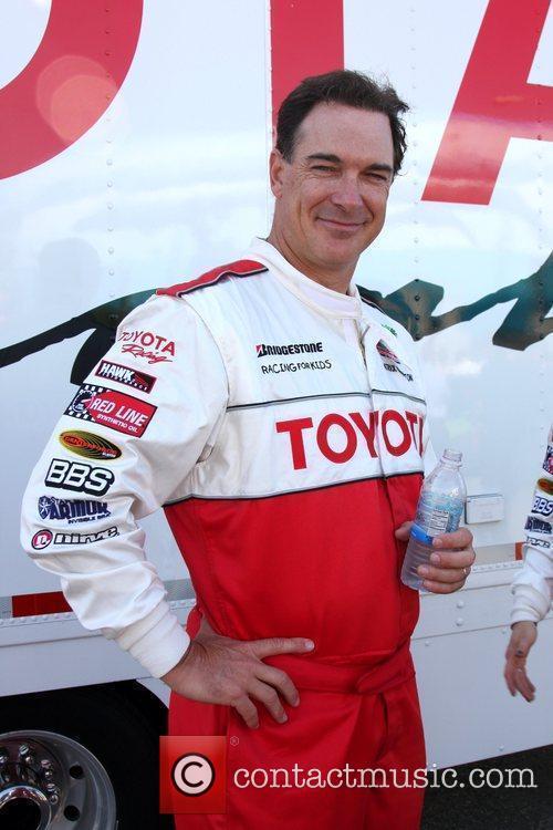 Patrick Warburton Pess practice day for the Toyota...