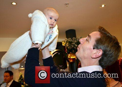 Ryan Tubridy and baby Seanan O'Connor (9 weeks...