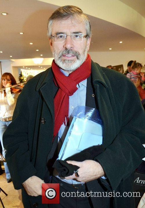 Gerry Adams at Rayn Tubridy's 'Toys For Tubs'...
