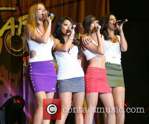 The Saturdays performing at the O2 Arena as...