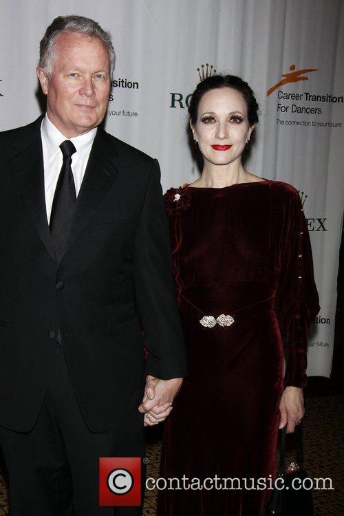 Chris Calkins and his wife Bebe Neuwirth...