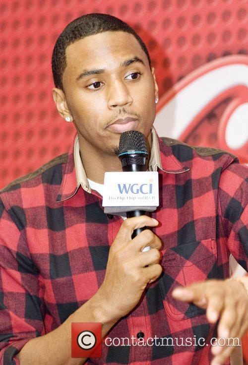 Trey Songz  is seen backstage at the...