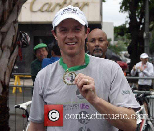 Eric Close attends the first annual Triathlon for...