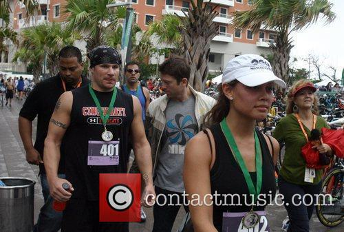 Vanessa Minillo and Nick Lachey attends the first...