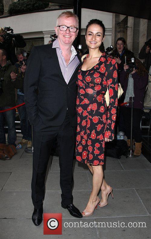 Chris Evans with his wife Natasha Shishmanian The...