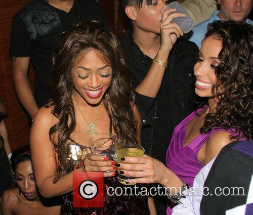 Trina and Mya Rap star Trina's birthday celebration...