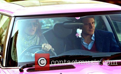 Trinny Woodall and her boyfriend, Stefano Bonfiglio leave...