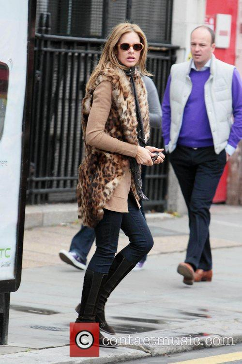 Trinny Woodall is seen walking through Notting Hill
