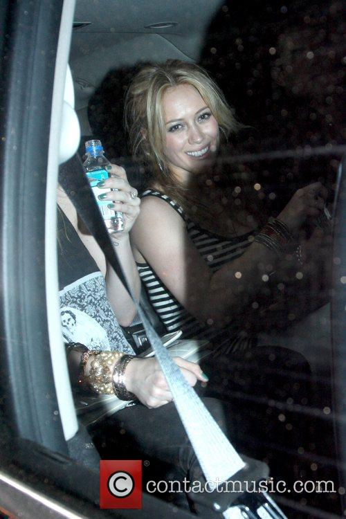 Hilary Duff leaving Trousdale nightclub in West Hollywood...