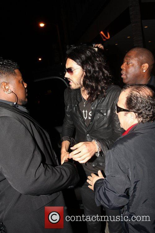Russell Brand leaving Trousdale nightclub in West Hollywood...