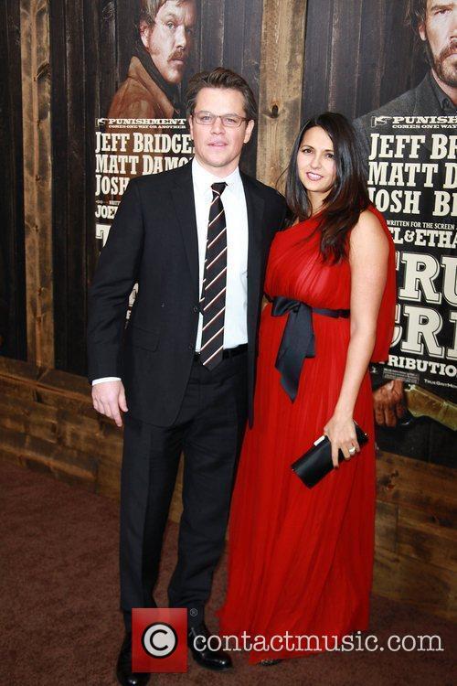 Matt Damon, Luciana Barroso,  New York Premiere...