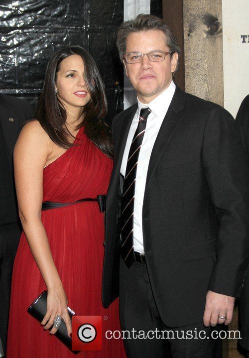 Luciana Barroso and Matt Damon New York Premiere...