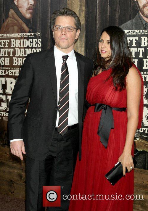 Matt Damon and Luciana Barroso New York Premiere...