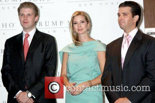 Eric Trump, Donald Trump and Ivanka Trump 2