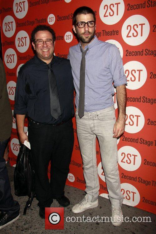 Michael Greif and Zachary Quinto Opening night of...