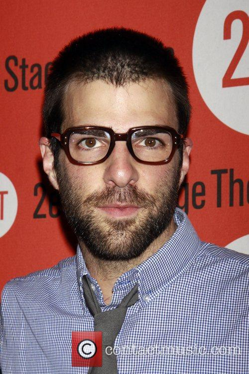 Zachary Quinto Opening night of the Off-Broadway production...