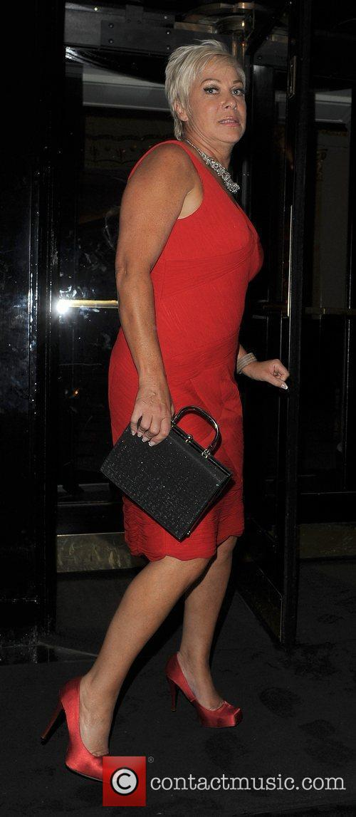 Denise Welch leaving the TV Choice Awards 2010,...