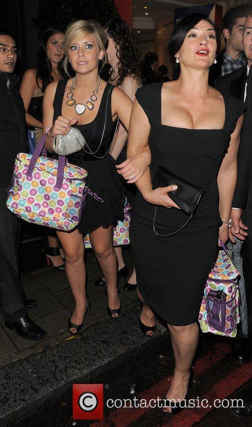 Suzanne Shaw leaving the TV Choice Awards 2010,...
