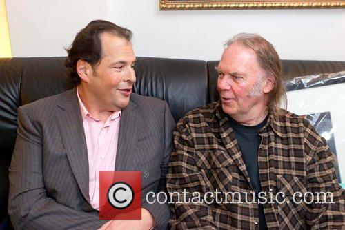 Marc Benioff and Neil Young Benefit concert for...