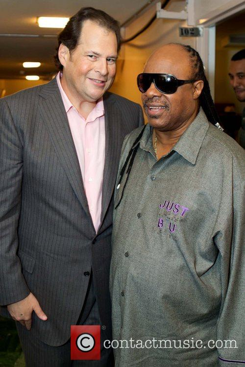 Marc Benioff and Stevie Wonder Benefit concert for...