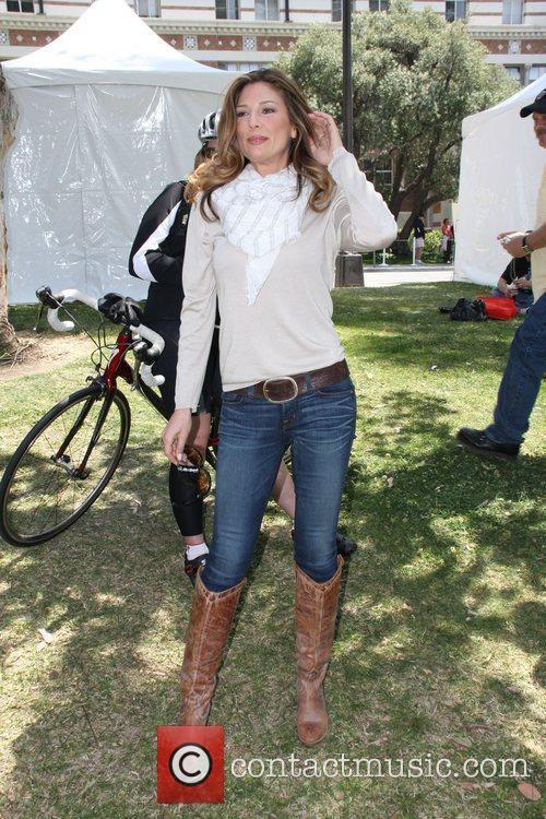 Cuban-born American model Daisy Fuentes at the UCLA...