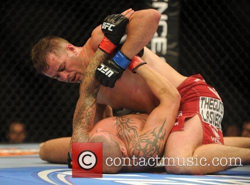 UK Fighter James McSweeney and Fabio Maldonado of...