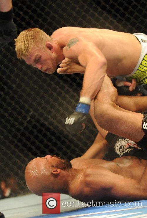 Alexander Gustafsson of Sweden in the white shorts...