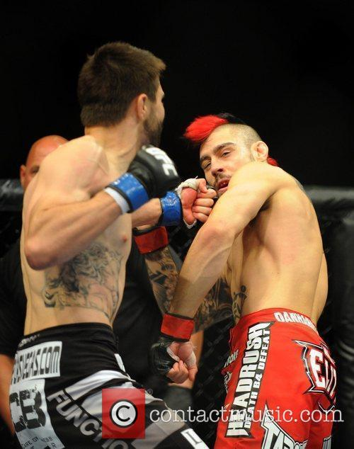 Dan Hardy from Nottingham UK is knocked out...