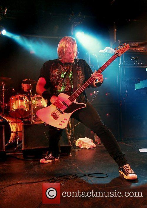 Barry Sparks of UFO performing at Liverpool O2...